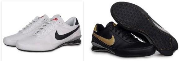 Mens Nike Shox R2 Shoe Single Buckle Gloden Black Online
