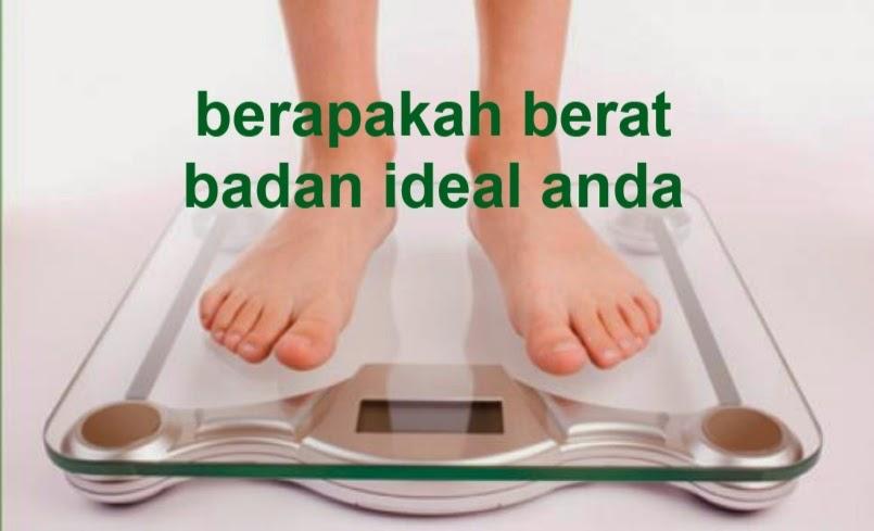 cara mudah menghitung berat badan ideal