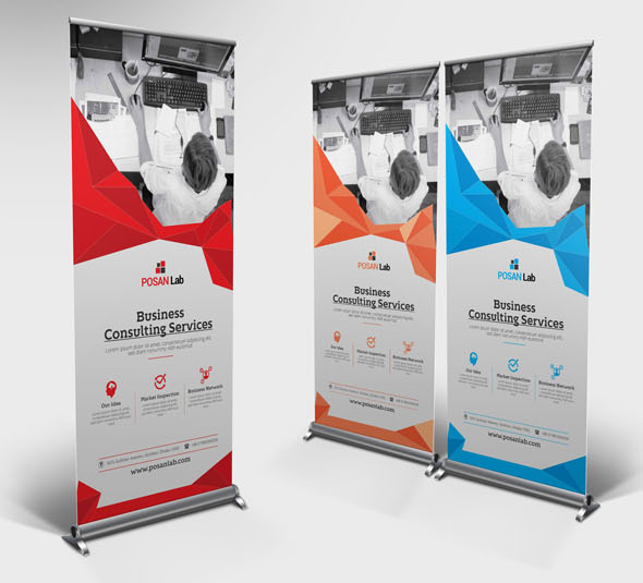 corporate, business, rollup, banner, design, elegant, design, template, marketing, advert, advertisement, best, free, print, clean, modern,