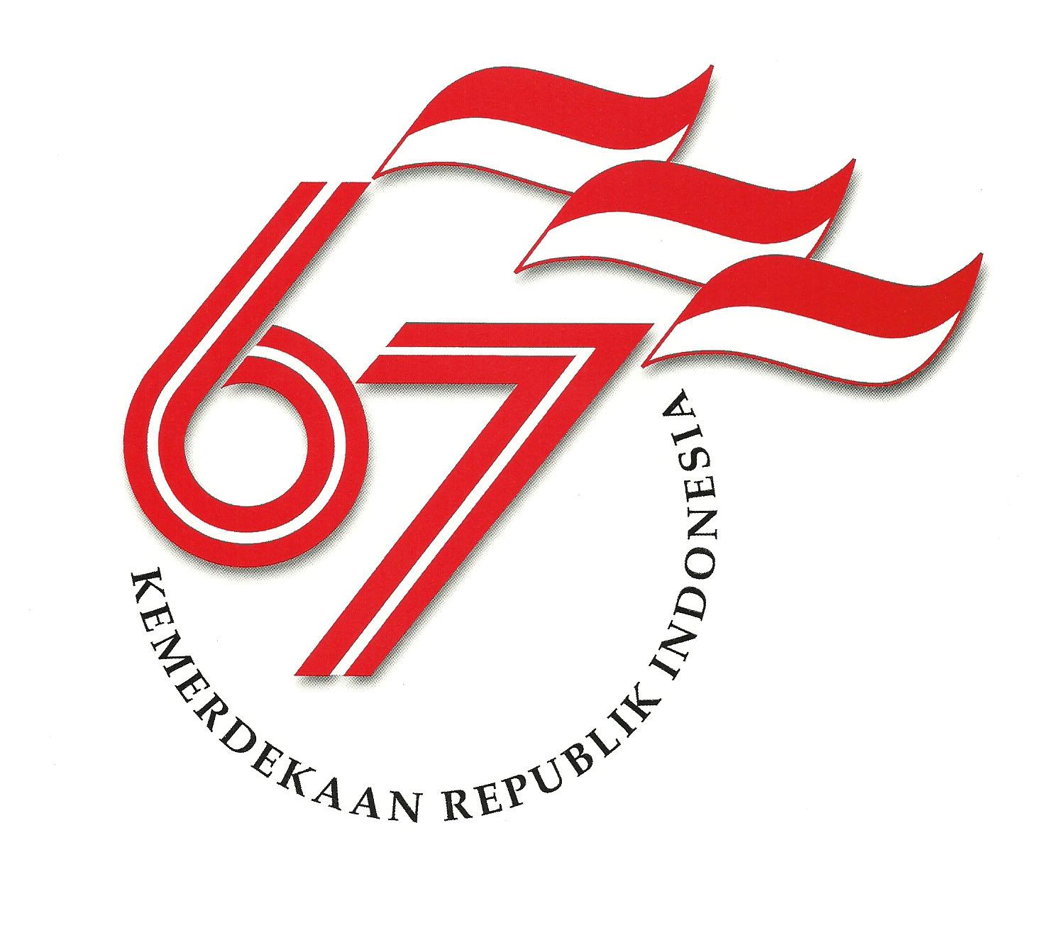 Logo HUT ke-67 RI Tahun 2012