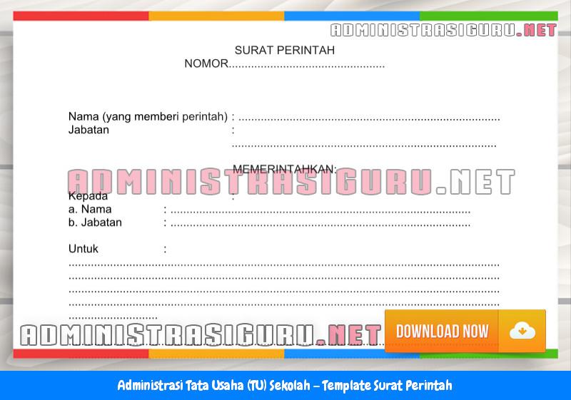 Contoh Format Surat Perintah Administrasi Tata Usaha Sekolah Terbaru Tahun 2015-2016.docx