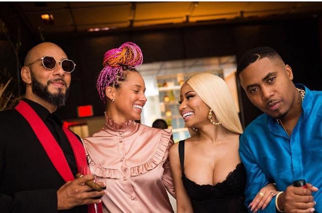 Nicki Minaj and Nas look like a cute couple at his birthday celebration