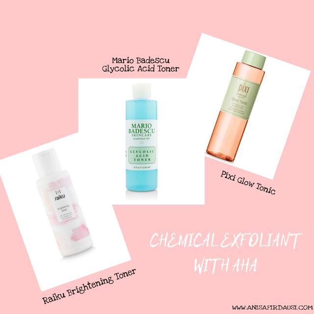 produk-produk chemical exfoliant AHA