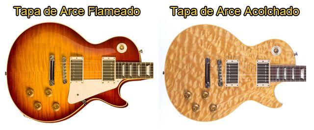 Tapa de Arce Flameado y Arce Acolchado para Guitarra Eléctrica