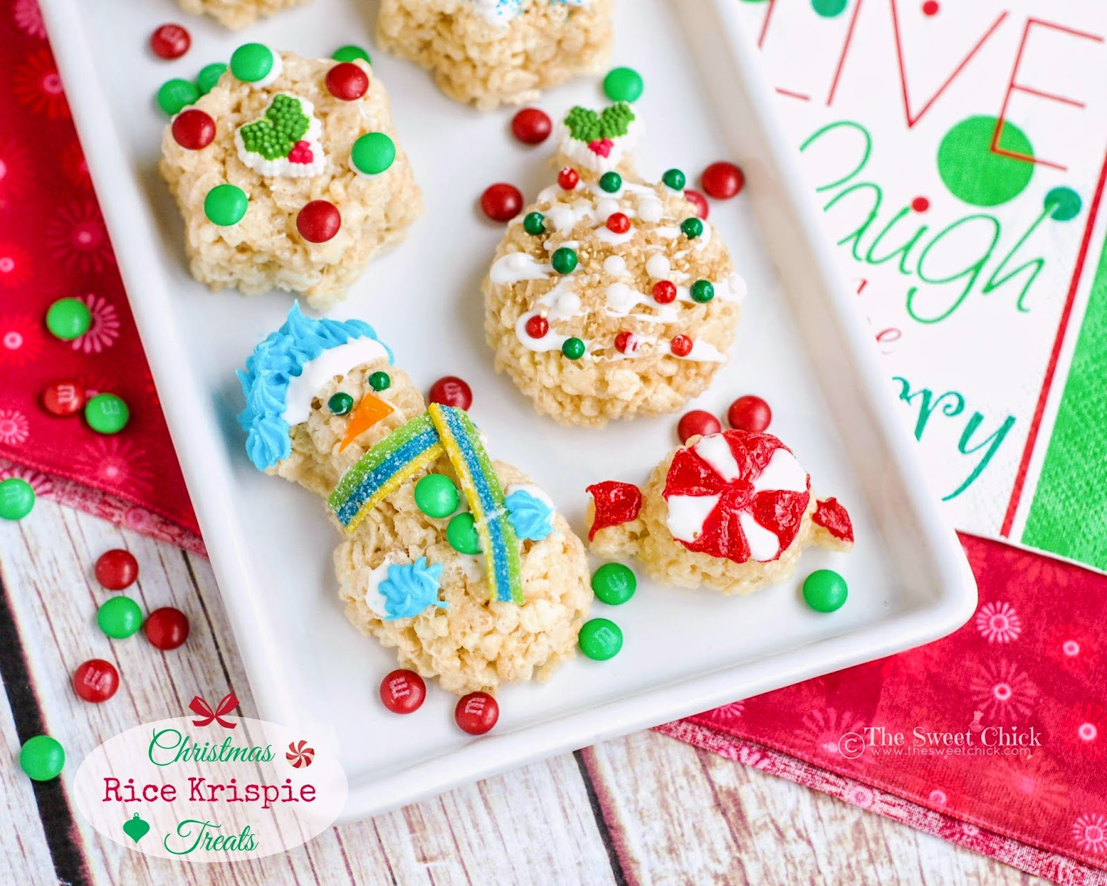 Christmas Rice Krispie Treats by The Sweet Chick