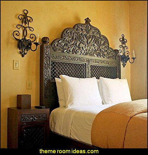 Carved Lattice Headboard by Worldcraft Industries