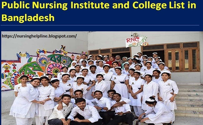 Public nursing college and institute list in Bangladesh