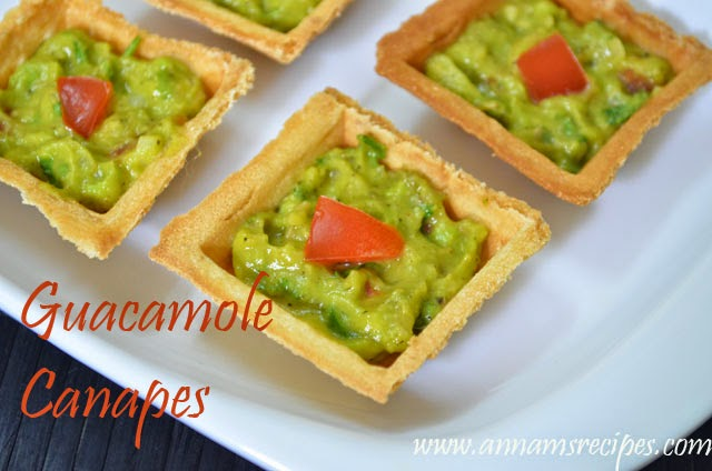 Guacamole Canapes / Avocado / Butter Fruit