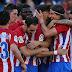 El Atlético Madrid de Simeone goleó al Osasuna