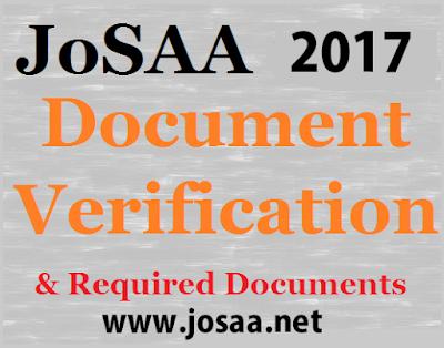 JoSAA 2017 Certificate Format