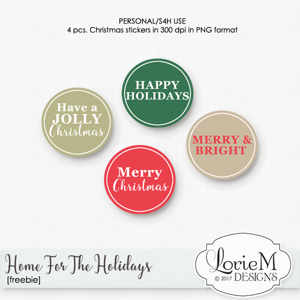 Home For The Holidays $1.00 Each + FWP + Freebie