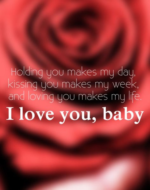 I Love You baby Sweet Valentines Day Quotes And Sayings