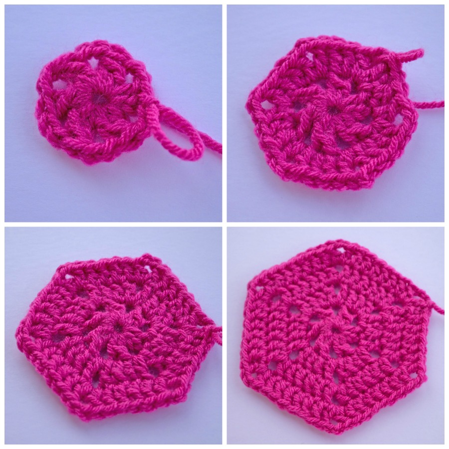 Crochet Hexagon Blanket Pattern and Tutorial