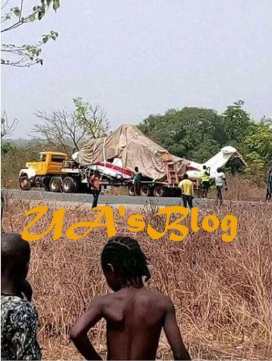 Truck Conveying V.P Osinbajo's Crashed Chopper, Breaks Down