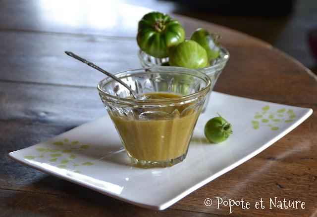 ketchup aux tomates vertes @Popote et Nature