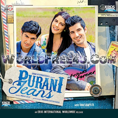 Poster Of Bollywood Movie Purani Jeans (2014) 300MB Compressed Small Size Pc Movie Free Download worldfree4u.com