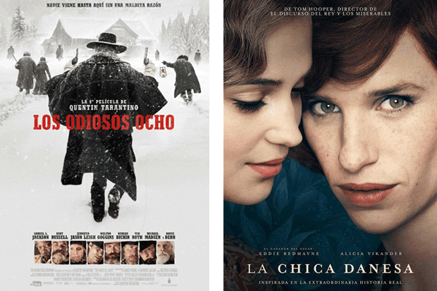 "Tarantino, ""Los odiosos ocho"", ""The Danish girl"", Redmayne"