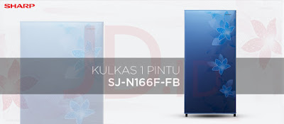 SHARP Kulkas 1 Pintu SJ-N166F-FB