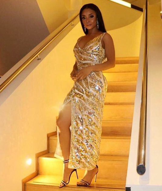 See what Toke Makinwa wore for her book's meet and greet session in London  (Photos)