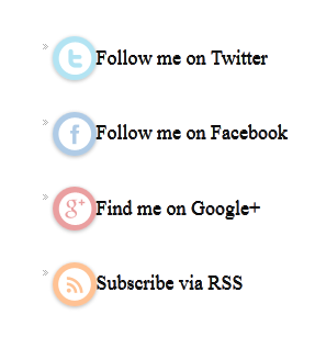 Widget Sosial Follow di sidebar
