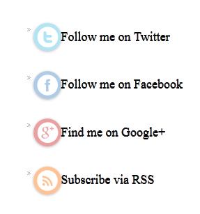 Widget Sosial Follow di sidebar