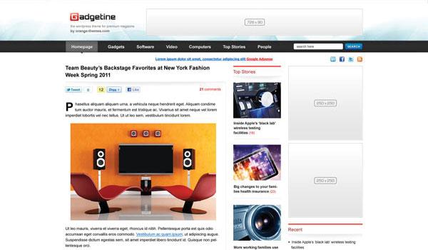 Gadgetine Magazine Theme