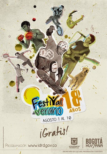 Cartel Festival de Verano de Bogotá 2014