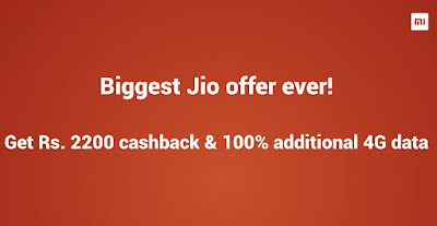How to get  Reliance Jio Rs 2200 cashback ,100% additional 4G data on Xiaomi Redmi Note 5, Note 5 Pro