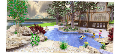 Image Best for Cipriano Landscape Design Ridgewood Design Swimming Pool Waterfalls Beach Stone Patio