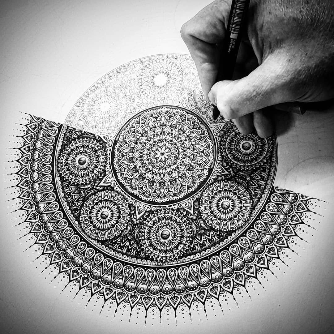 08-WIP-Baz-Furnell-3D-Looking-Mandala-Drawings-www-designstack-co