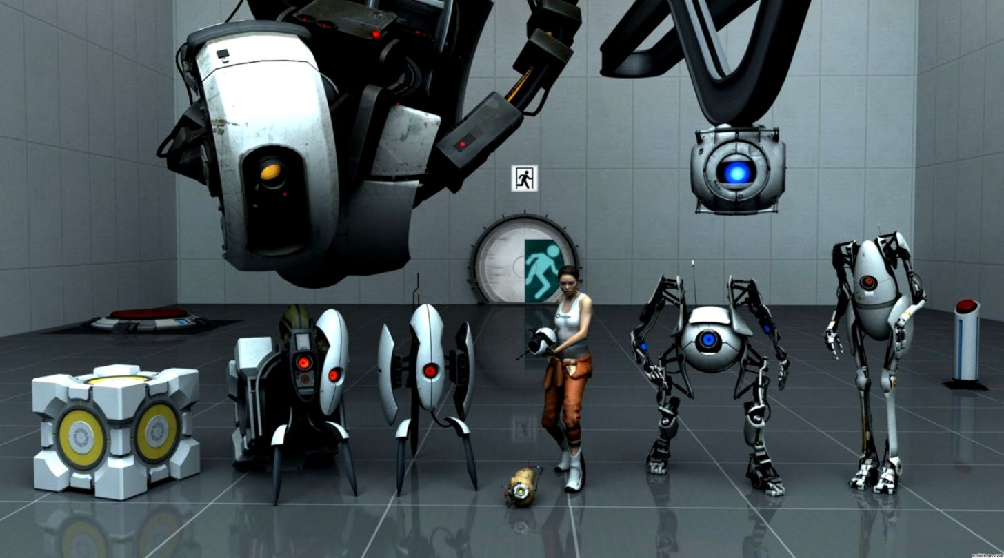 Portal 2 Characters 1080p Hd Info Wallpapers