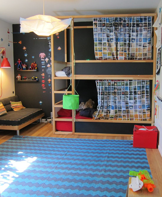 Double Bunk Beds Ikea Mommo Design: Kura Bed Makeover