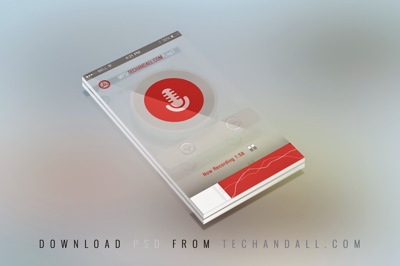 PSD Perspective Mobile Mock-up Screen