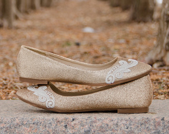 Gold Wedding Flats