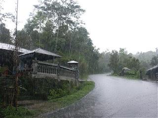 It is raining in Thailand