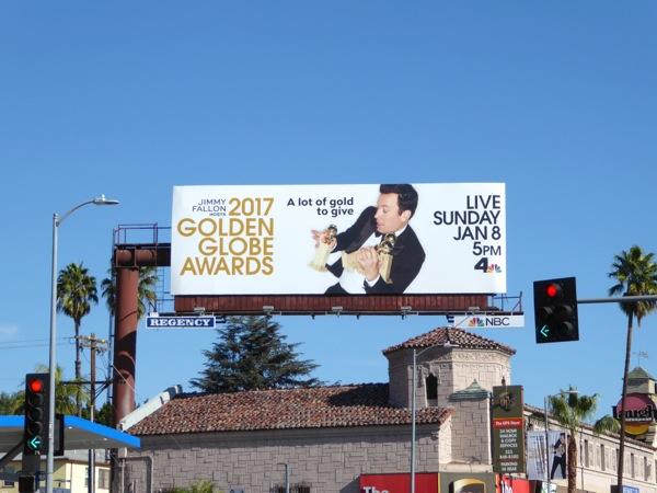 2017 Golden Globes billboard