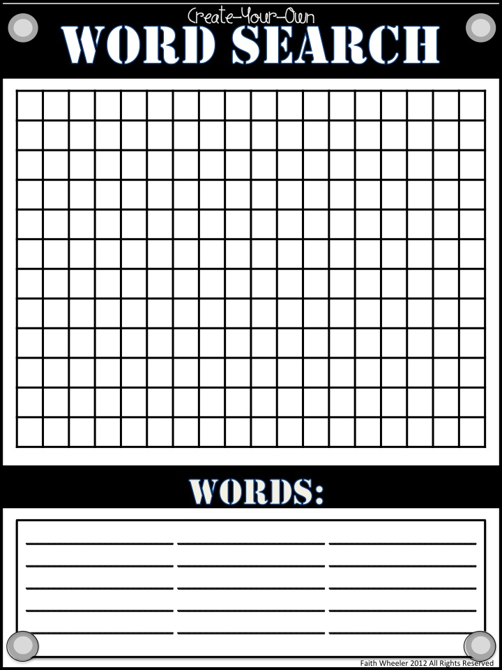 ... word search template i had one last year but i wanted to make a new