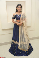Niveda Thomas in Lovely Blue Cold Shoulder Ghagra Choli Transparent Chunni ~  Exclusive Celebrities Galleries 078.JPG