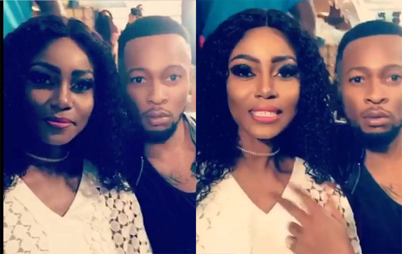 Please run for your life - People react as Yvonne Nelson is pictured with Flavour