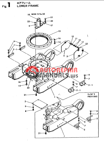 Auto Repair Manuals: YANMAR CRAWLER EXCAVATOR YB10-2 PARTS