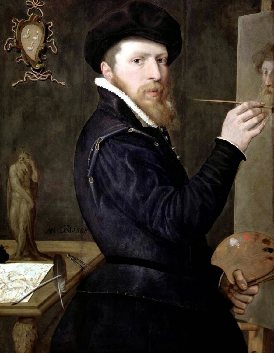 Isaac Claesz van Swanenburg, Self Portrait, Portraits of Painters, Fine arts
