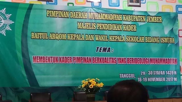 Baitul Arqom Kepala Sekolah Muhammadiyah di Tanggul