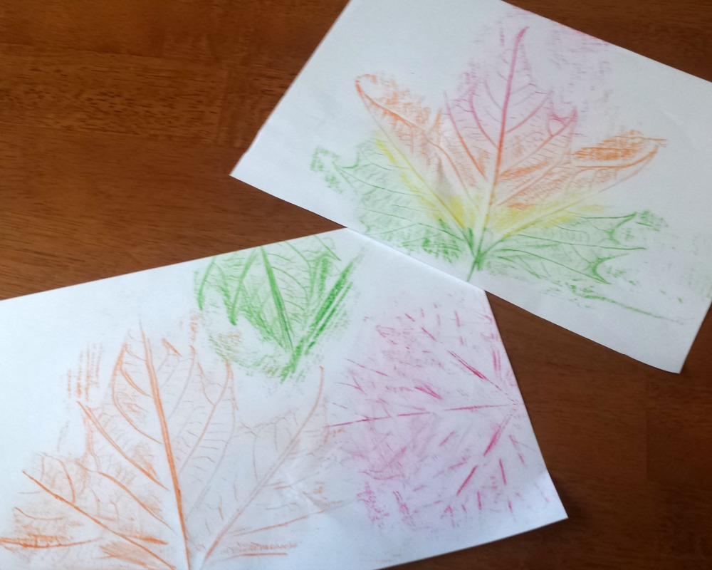 4 Autumn Leaf Activities For Little Ones - Leaf Rubbing