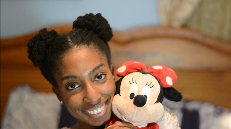 HAIRSTYLE | MINNIE MOUSE INSPIRED AFRO PUFFS