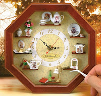 DIY decoração - relógio de parede com miniaturas