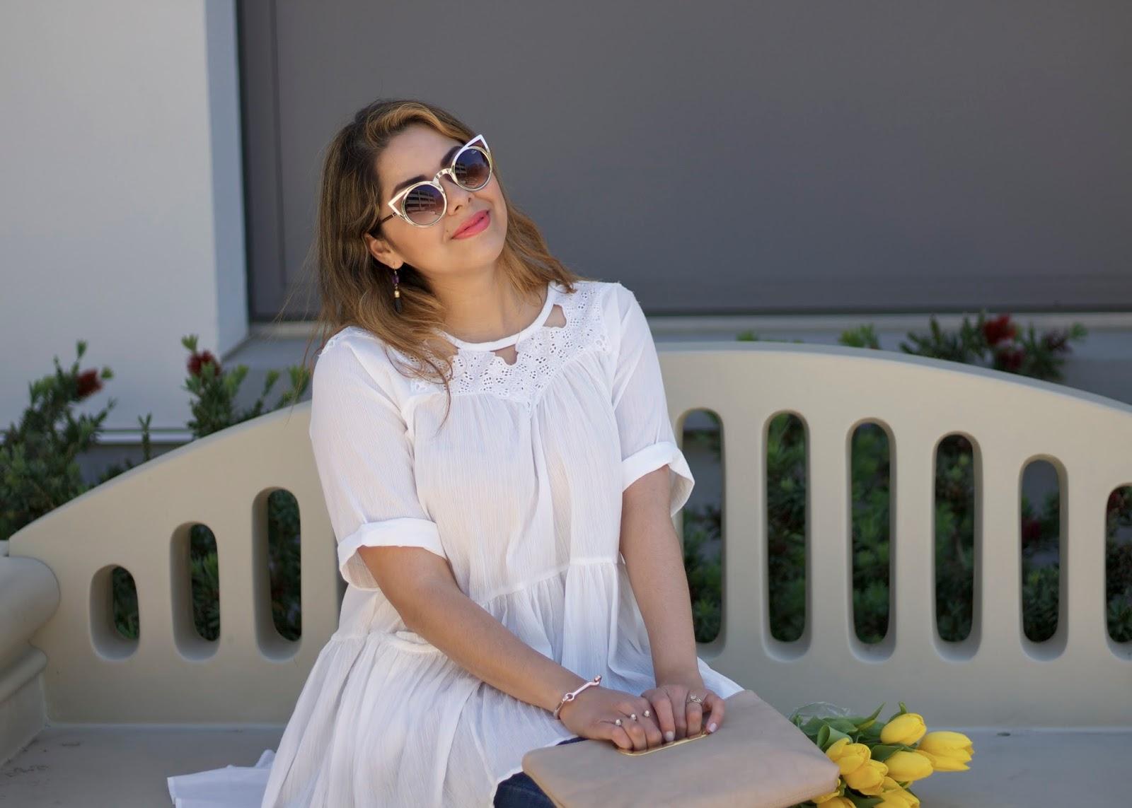 Spring 2016 outfit idea, quay invader sunglasses, quay australia sunnies, quay blogger