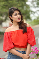 Rhea Chakraborty in Red Crop Top and Denim Shorts Spicy Pics ~  Exclusive 084.JPG
