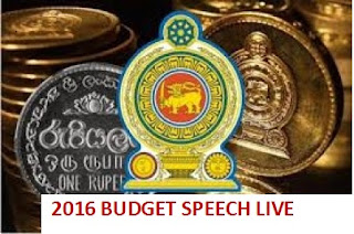 2016 Sri Lanka Budget Proposals Speech via Live Blogging