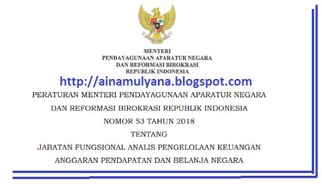 Permenpan RB Peraturan Menpan RB Nomor  PERMENPAN RB / PERATURAN MENPAN RB NOMOR 53 TAHUN 2018