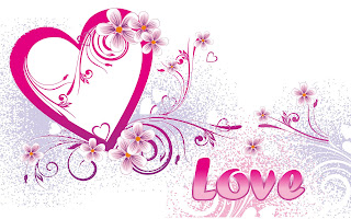 Roze hartjes en tekst op witte achtergrond